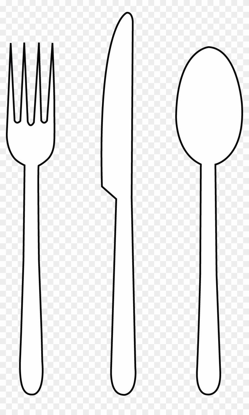 Fork Knife Silverware Clip Art Free Vector In Open - White ...