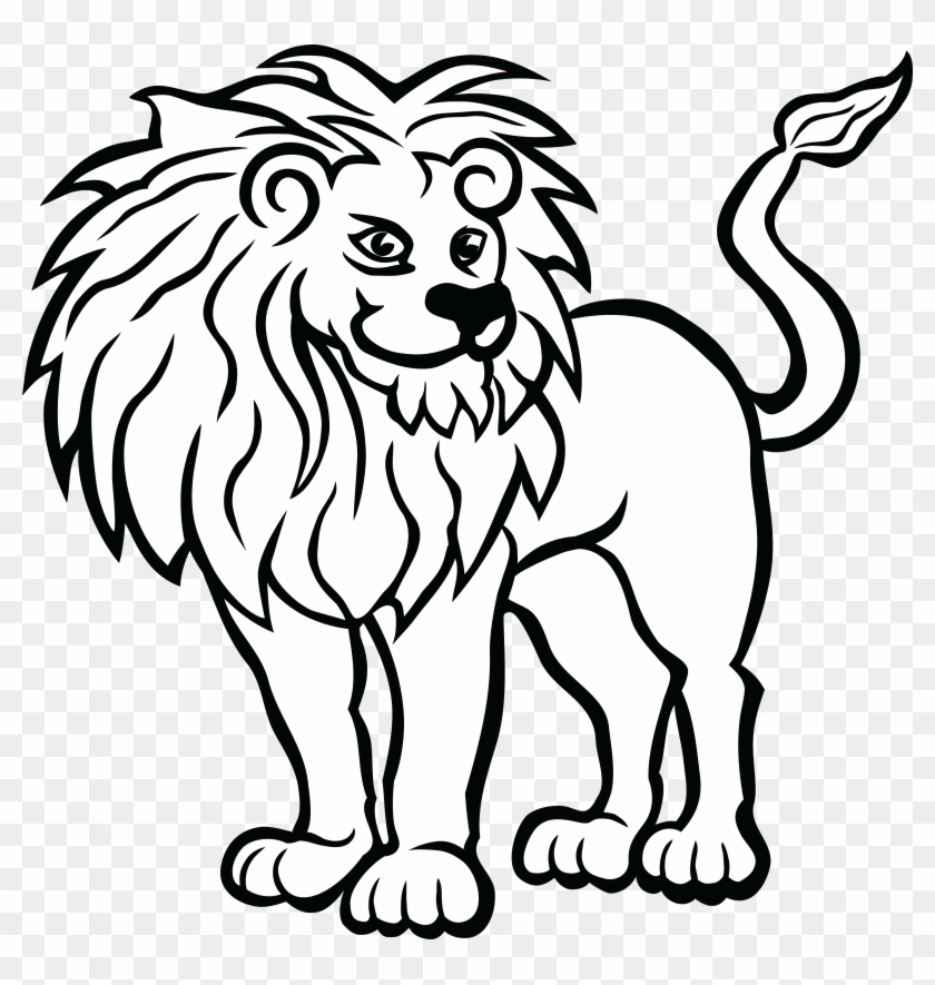 - Free Clipart Of A Lion - Zoo Animals Coloring Pages - Free Transparent PNG  Clipart Images Download