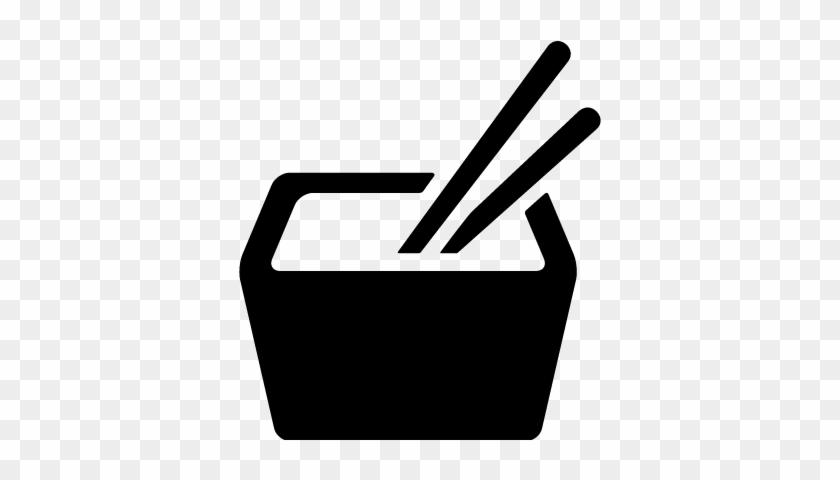 Japanese Food With Chopsticks Vector - Icone Comida Japonesa - Free ...