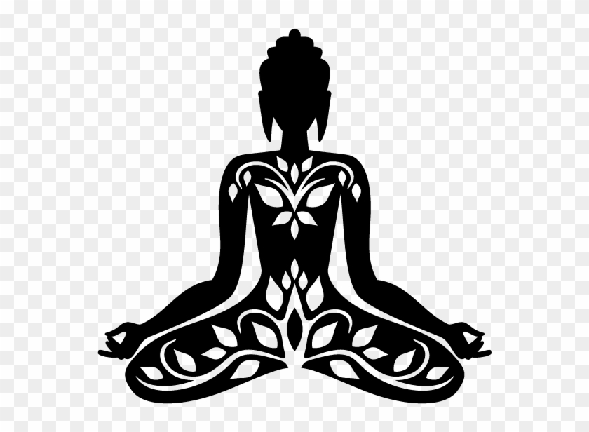 Buddha Sitting In A Lotus Position - Black And White Meditating #634540