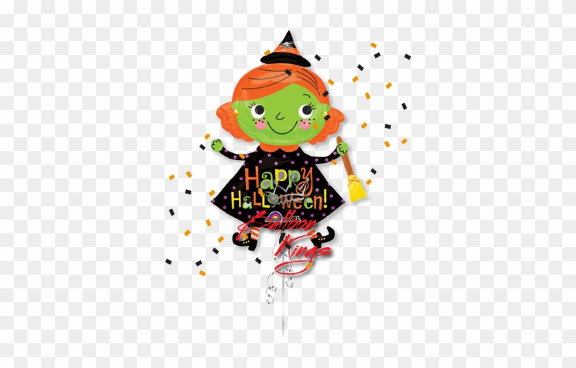 Cute Witch - Halloween Friendly Witch Balloon Costume #635589