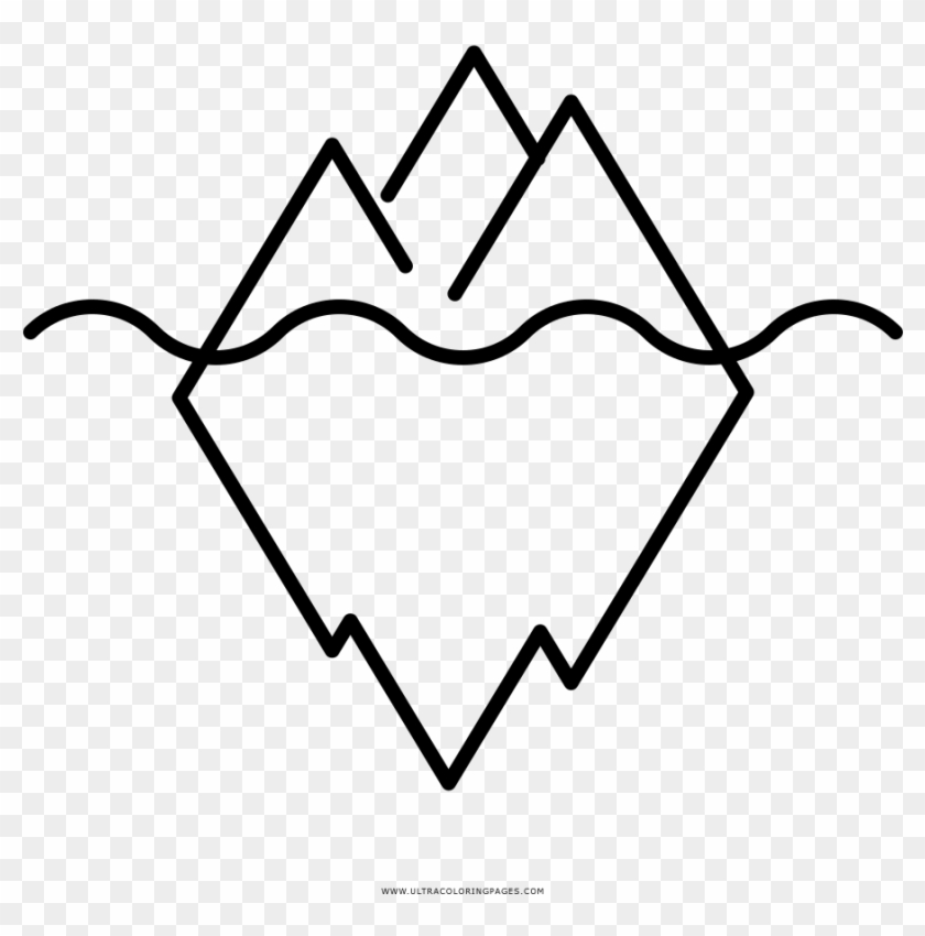 Iceberg Coloring Page Ultra Pages Ice Pack