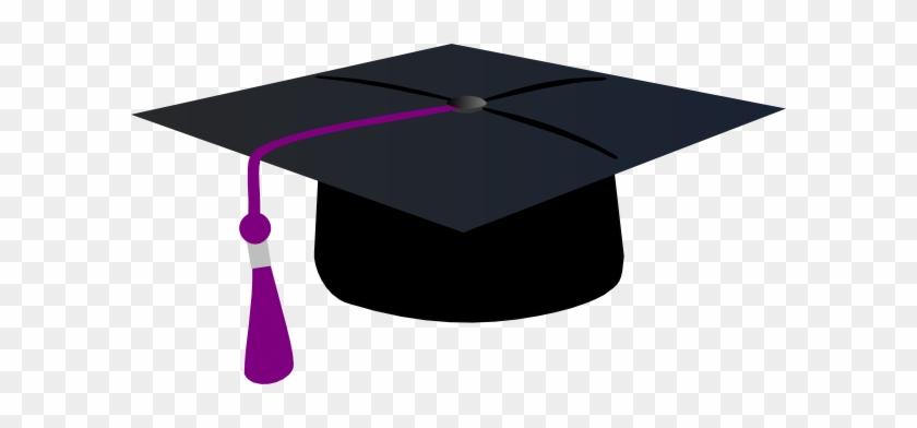 Graduation Hat With Purple Tassle Clip Art At Clipart - Graduation Cap Clip Art #635811