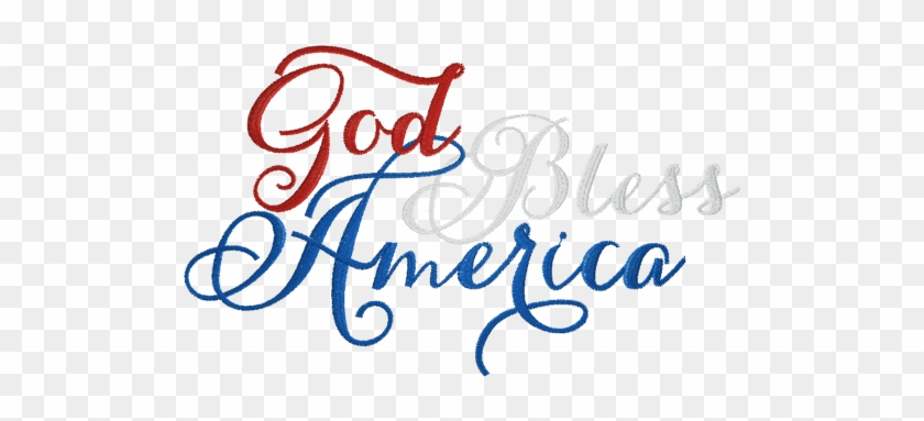 God Bless America In Cursive #635990