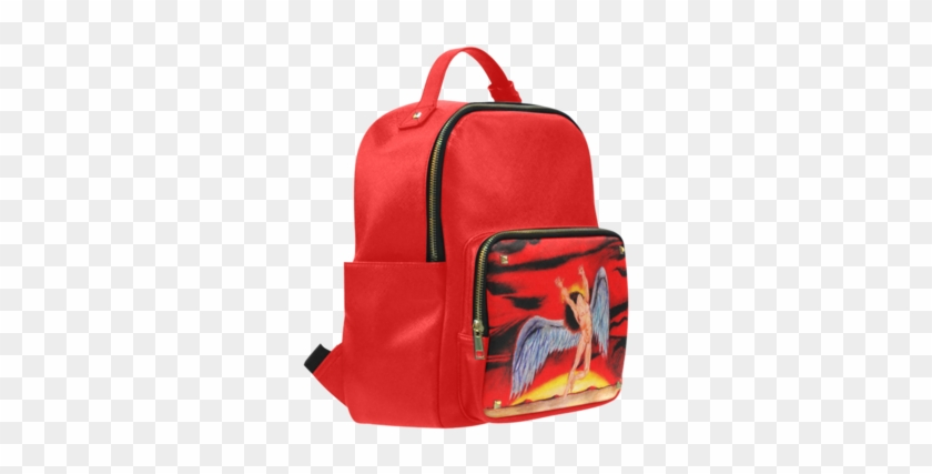 Sale Psylocke Leather School Bag With Led Zeppelin - Backpack #637606