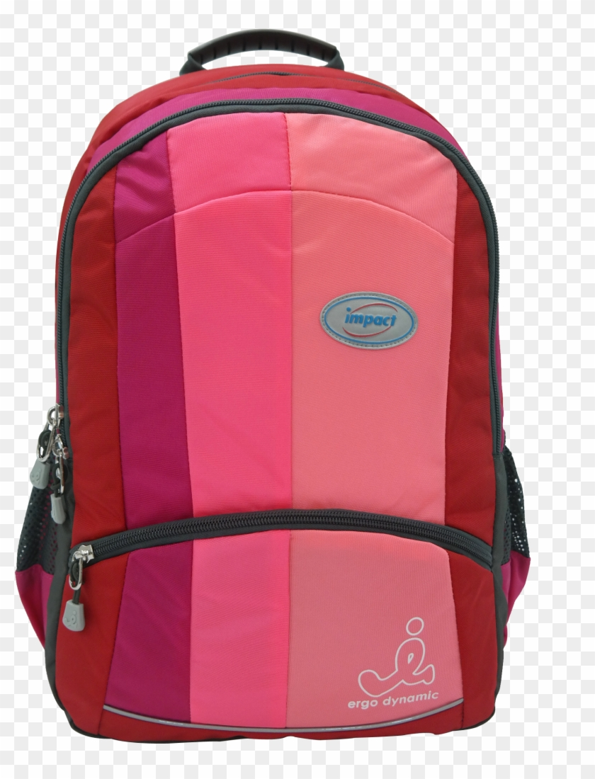 Impact Ergonomic Backpack Ipeg-130 Pink - Impact School Bags Singapore #637636