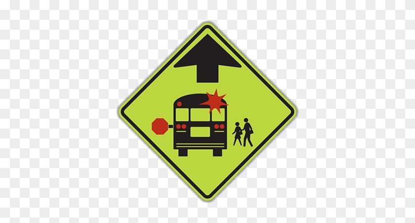 S3-1 School Bus Stop Ahead - Stop For School Bus Sign #638130