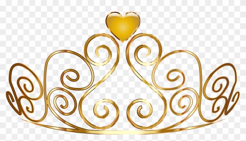 La Corona De La Princesa De Oro Clip Art - Princess Gold Crown Clipart #638315