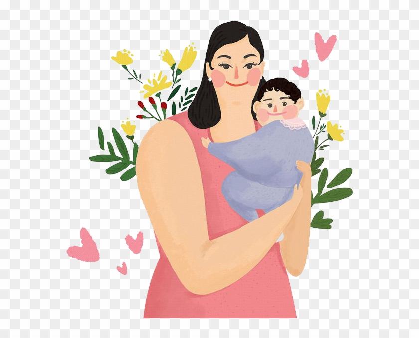 Картинки мамы и детей мультяшные, прикольные