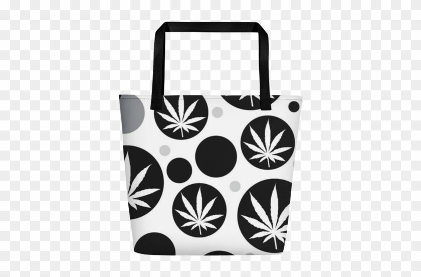 Bubbleweed Beach Bag - Marijuana Leaf Olive Coaster Set #638786