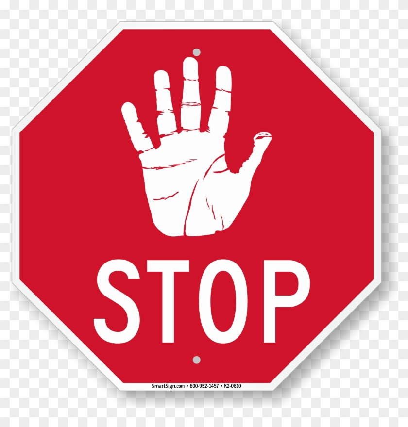 Hand Symbol Stop Sign Stop Sign Do Not Enter Free Transparent