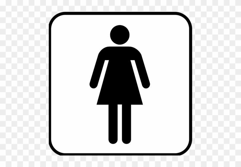 Ladies Rest Room Public Toilet Bathroom Clip Art - Latinas Do It Best #640025