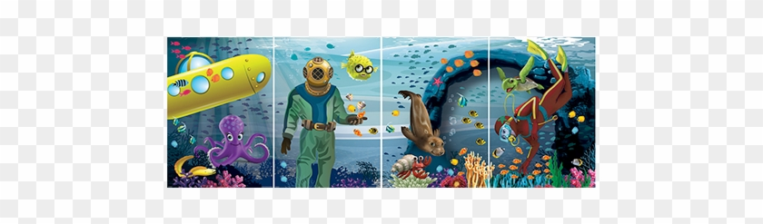Deep Sea Discovery Mural Easily Transforms Into A Photo - Deep Sea Photo Stand-up: 4-pack #641477