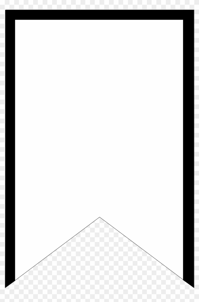 Free Printable Triangle Banner Template Birthday Cake Monochrome