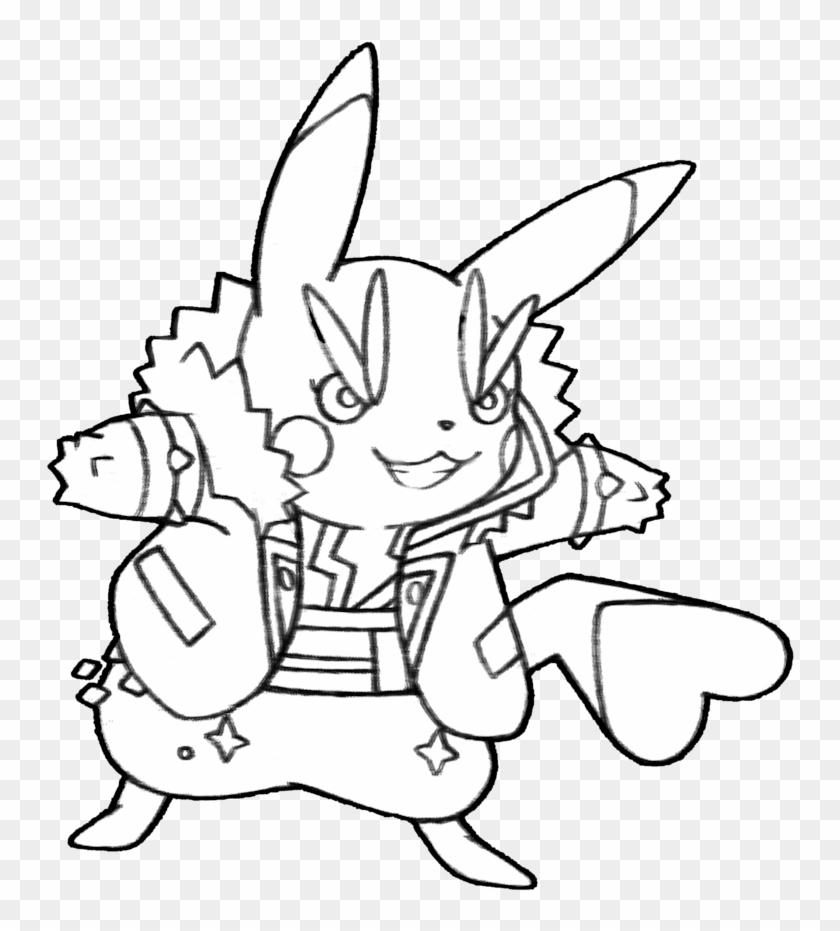 025 Rock Star Pikachu By Realarpmbq On Deviantart Rockstar Coloring Page 642525