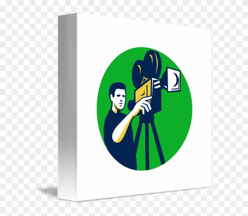 Movie Director Movie Film Camera Circle Retro T-shirt #642860