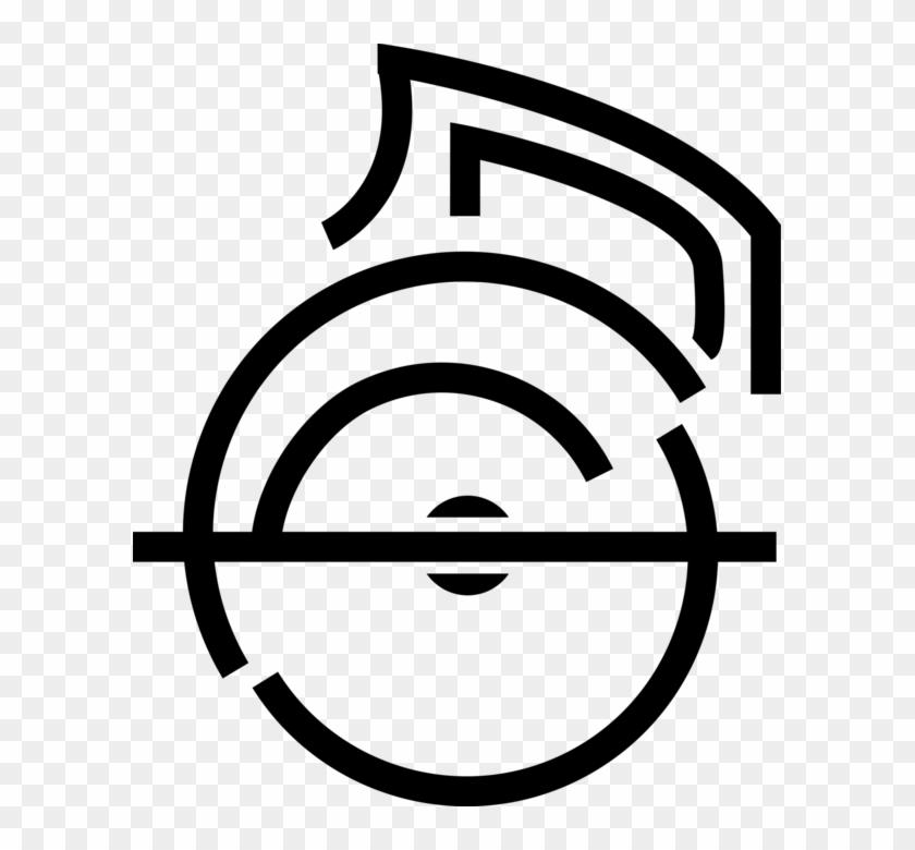 Vector Illustration Of Circular Saw Blade Electric - Circle #643521