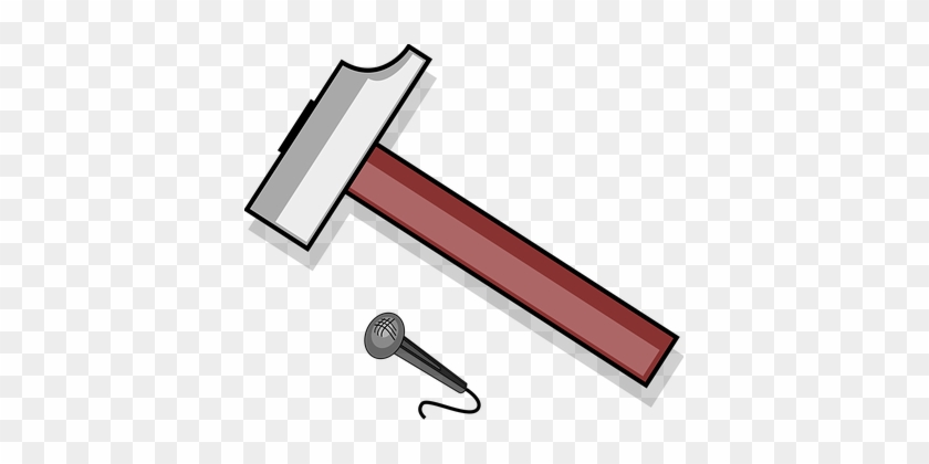 Hammer, Nail, Tool, Carpenter, Repair - Hammer Clipart #643597