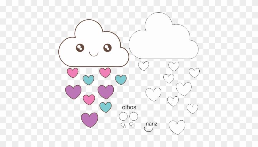 Molde Chuva De Amor Eva - Nuvem De Eva Chuva De Amor #645308