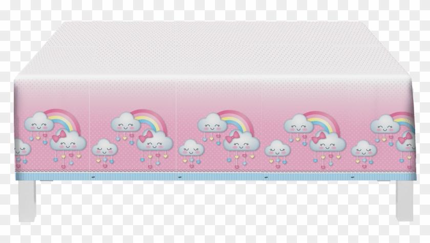 Toalha De Mesa Descartável Chuva De Amor Festcolor - Chuva De Amor Festcolor #645487