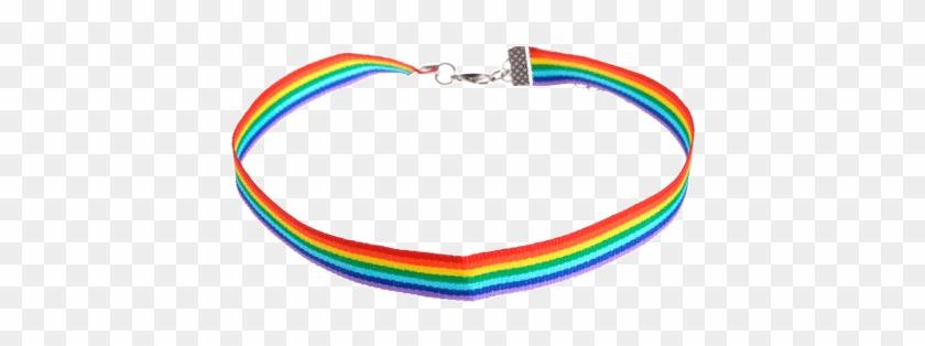 Itgirl Shop Rainbow Thick Choker Aesthetic Apparel Rainbow