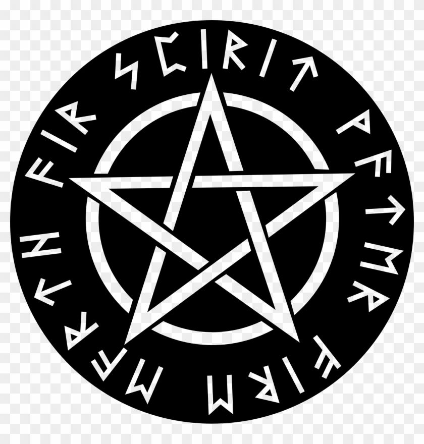 Clipart - Pagan Pentagram Black And White #646420
