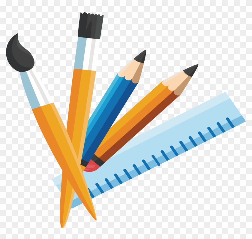 Pencil Stationery Paintbrush - Pencil #648210