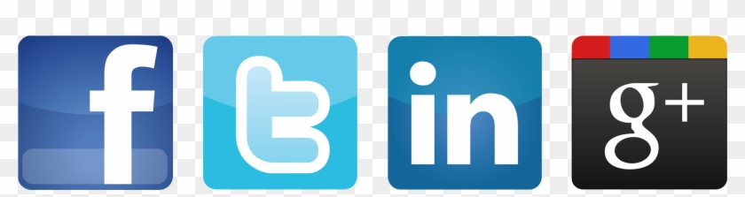 Twiter Linkedin And Icon - Facebook Twitter Linkedin Icons Vector #648220