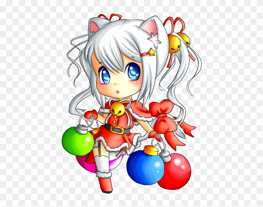 Christmas Neko 2o1o By The Orchestra System On Deviantart - Chibi ...