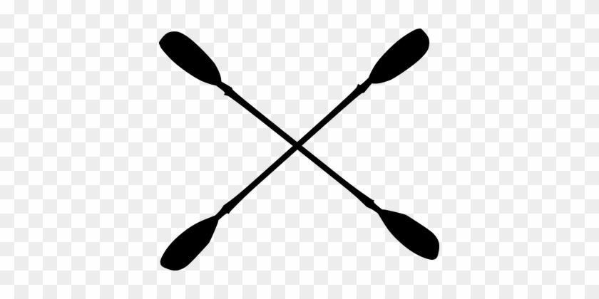Kayaking Paddles Ores Crossed Kayak Sport - Kayak Paddles Clipart #651240