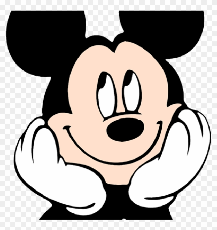 Mickey Head Clipart Mouse Face 4
