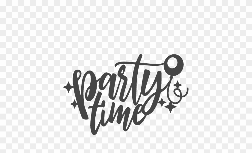 party time title new year svg scrapbook cut file cute party time clip art