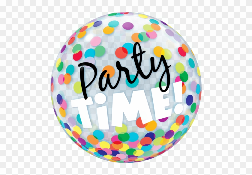Party Time Dots Bubble Balloon 1pc - Party Time Bubble Balloon #652619