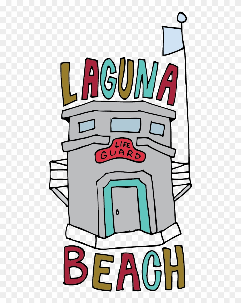 Jana Miller Drawing - Laguna Beach Lifeguard Tower Drawing #652726