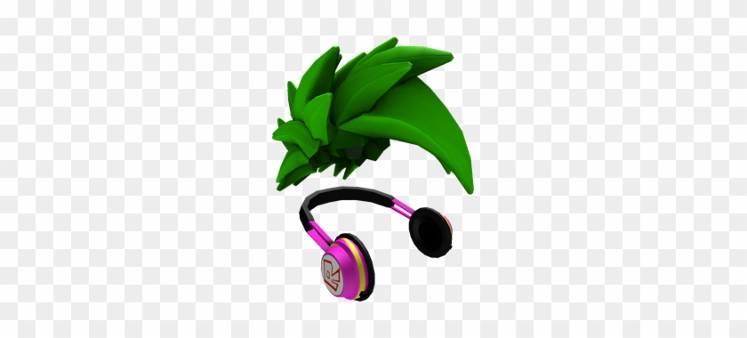 Green Swoosh And Headphones Roblox Red Swoosh Hair Free