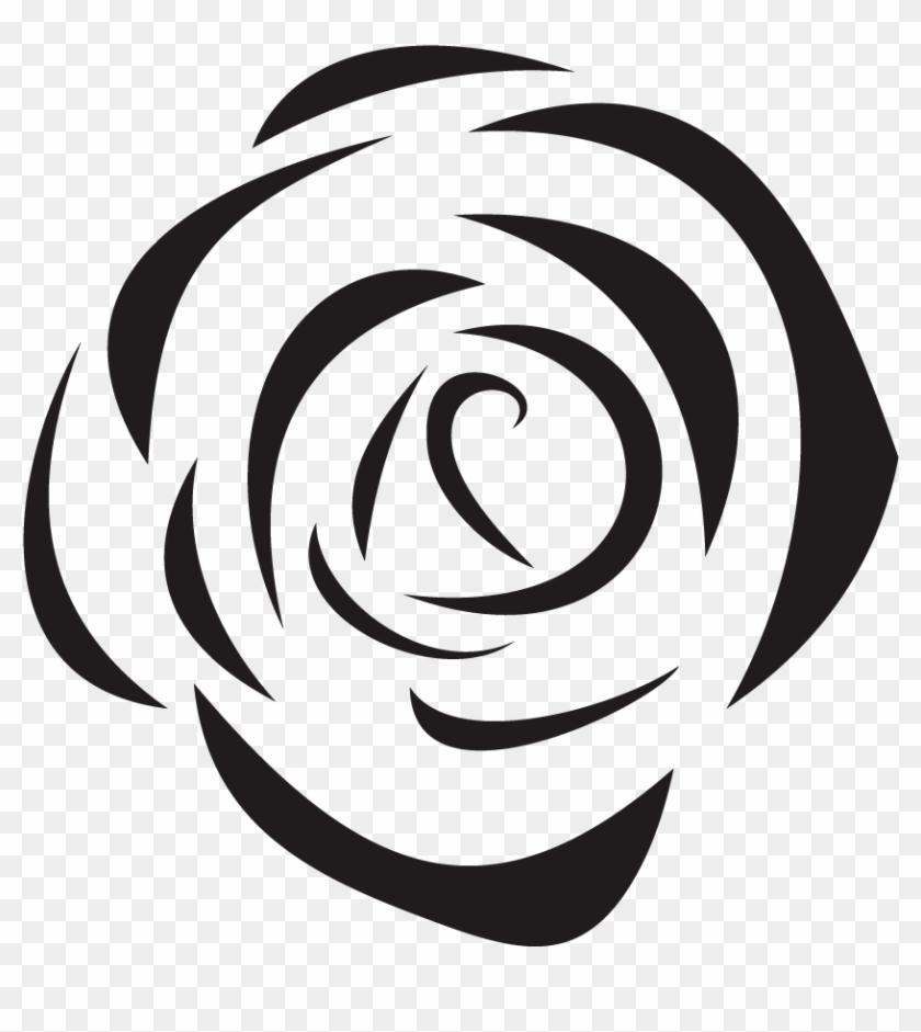 Beach Rose Black And White Flower - Beach Rose #654821