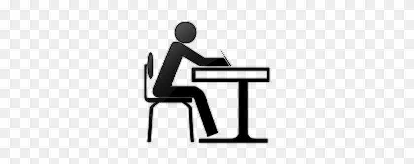 Motivation - Student At Desk Icon #655359