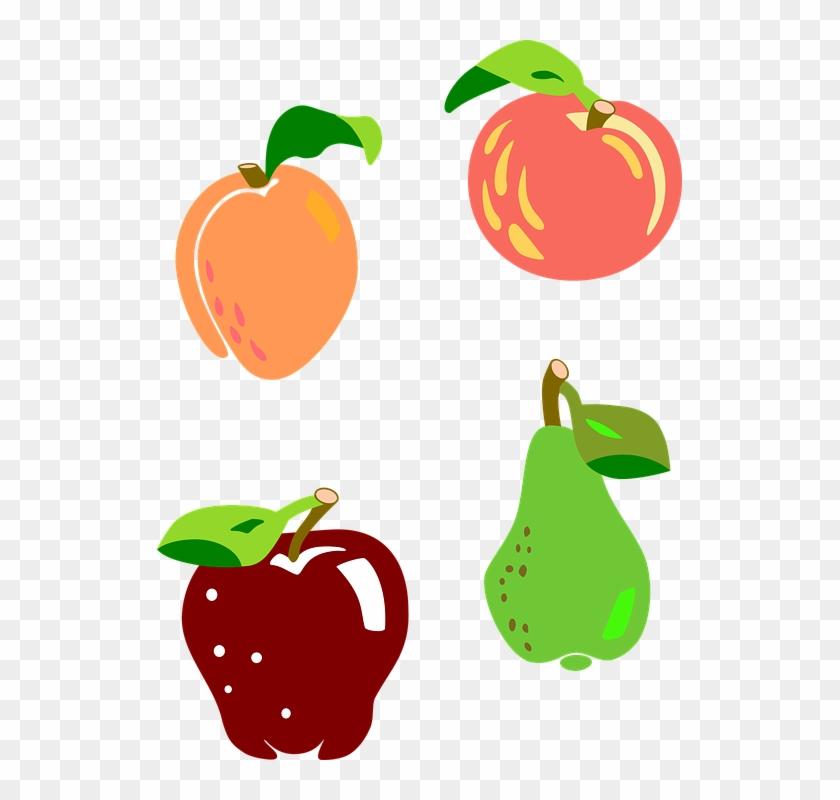 Apple Core Clipart 8, - Apricot Graphic #657294
