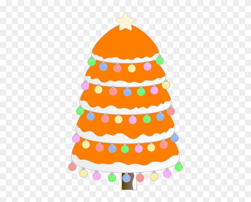 Orange Tree Clip Art At Clker - Christmas Tree Oval Ornament #657342