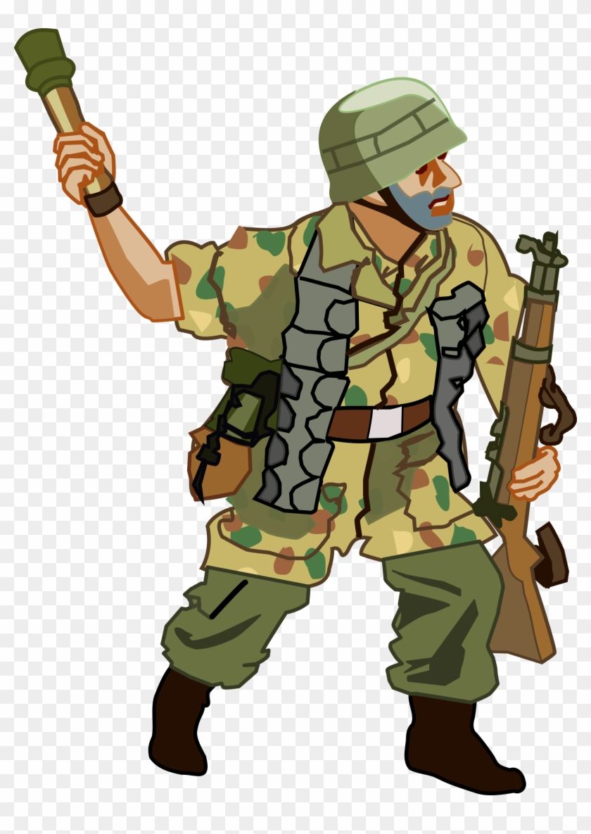 World War 2 Cliparts 8, - German Soldier Ww2 Cartoon - Free