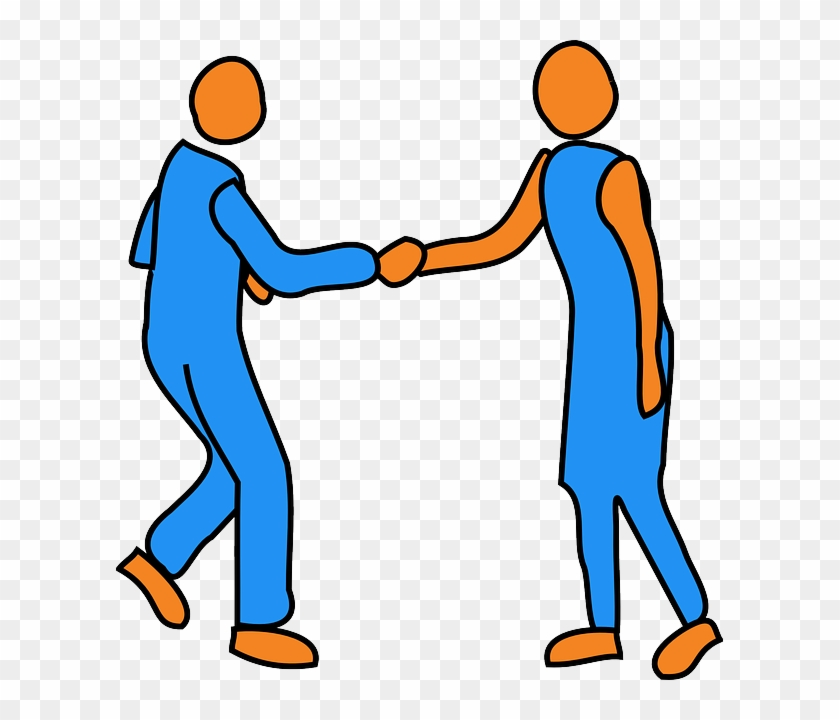 People Handshake, Man, Woman, Friends, People - People Shaking Hands Clip Art #658094