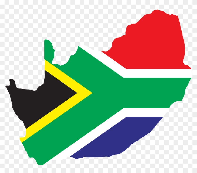 Flag Of South Africa Illustration - South Africa Map Vector #658823