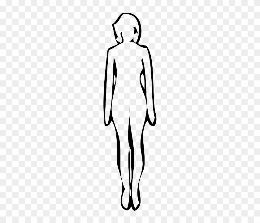 Outline, People, Lady, Silhouette, Female, Woman - Woman Standing Silhouette #659767