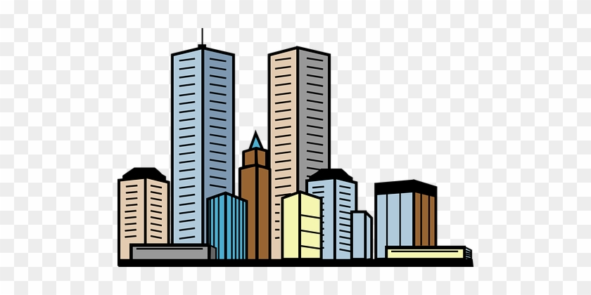 City Buildings Skyscrapers Towers Urban Ci - Building Image Clip Art #661497