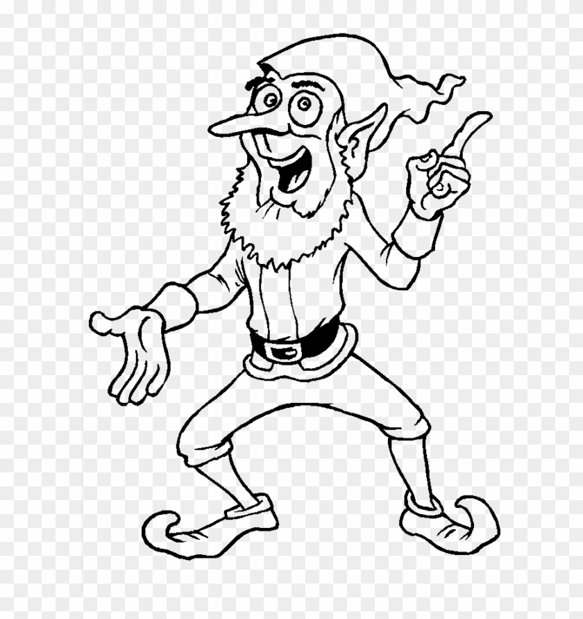 Pictures Christmas Elves Coloring Pages Funny Christmas Coloring