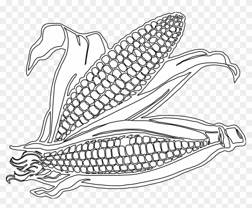 Free Corn Coloring Page, Download Free Clip Art, Free Clip Art on ... | 694x840
