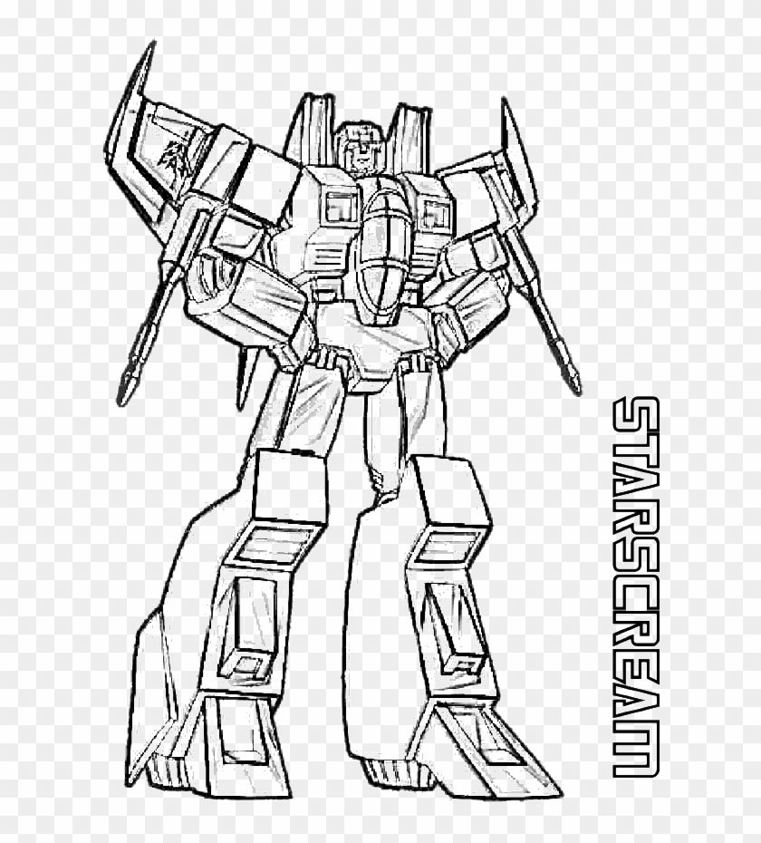 - Starscream Transformers Coloring Page - Transformers Coloring Pages  Megatron - Free Transparent PNG Clipart Images Download
