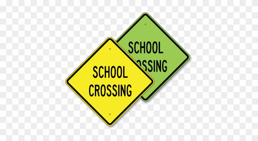 School Crossing Sign Png For Kids - School Bus Stop Sign #662147