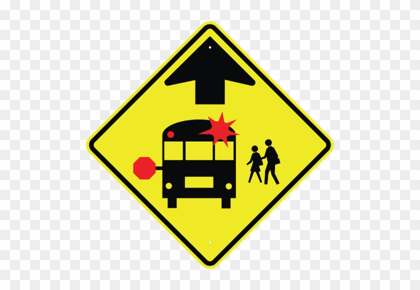Related Products - School Bus Stop Ahead Sign #662156