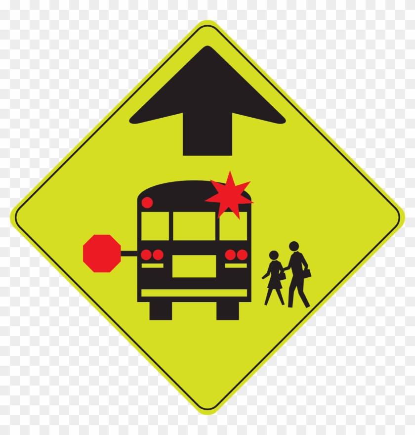 School Bus Stop Ahead - School Bus Stop Ahead Sign #662158
